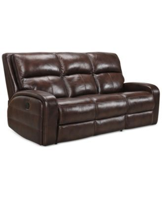 For The Family Room Hannon Leather Power Motion Sofa Home Decore