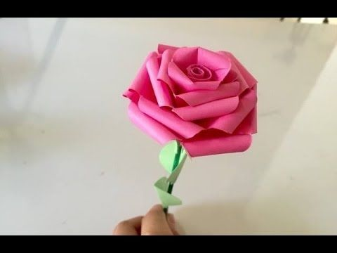 How To Make Tissue Paper Rose Flower With Wrapping Method Valentine S Day Craft Youtube Easy Origami Rose Paper Roses Origami Rose