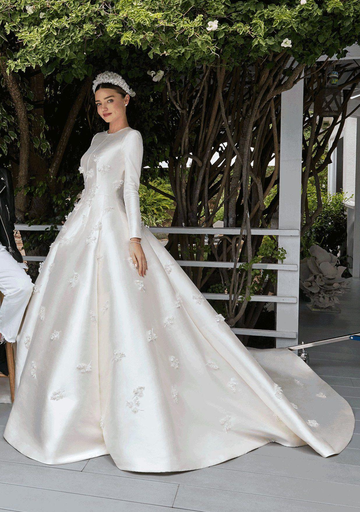Famous wedding dresses  Miranda Kerr married Snapchat founder Evan Spiegel in July  in a