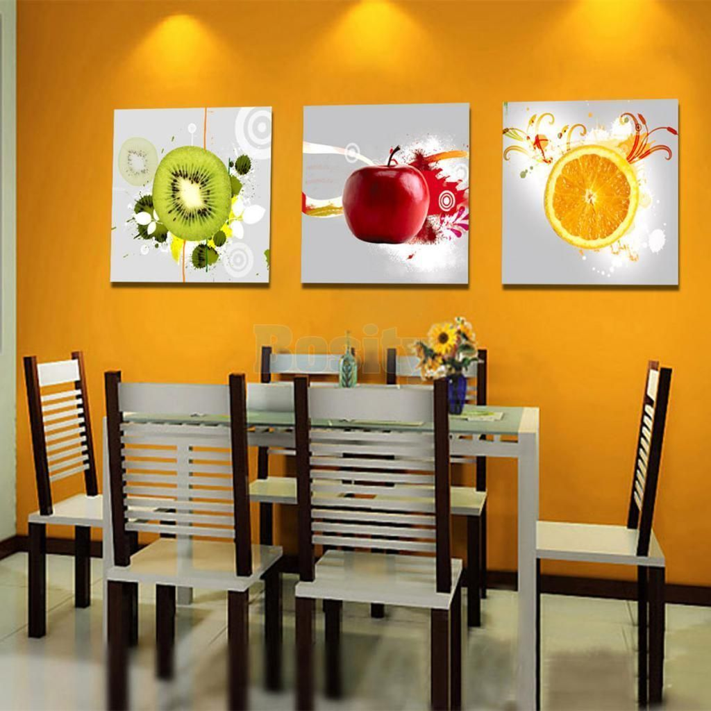 Large xcm canvas wall art painting picture fruits hanging
