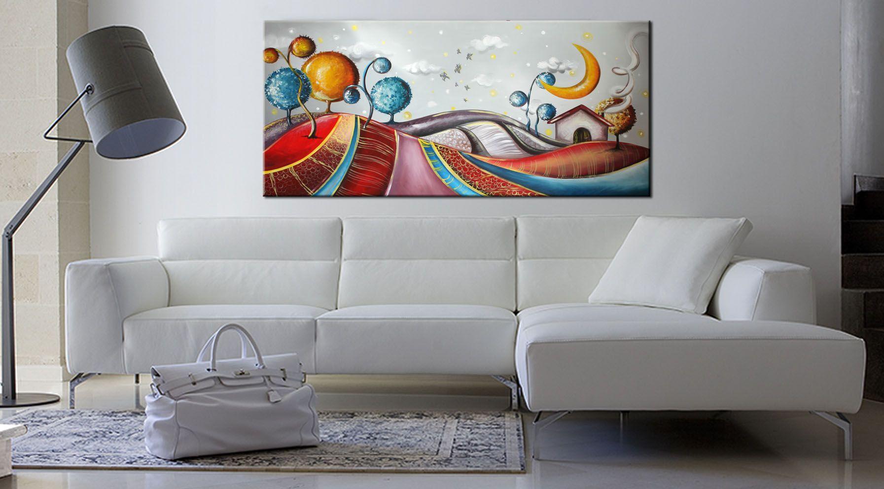 Quadri dipinti a mano su tela moderni e particolari for Quadri moderni salotto