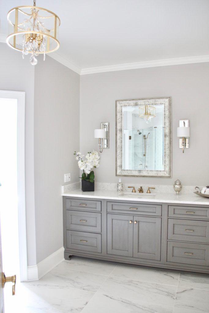 Photo of Meme_HIll_studio_amie_Freling_Concept_2_Bathroom_White_glam_Gray_carrera_marble _…