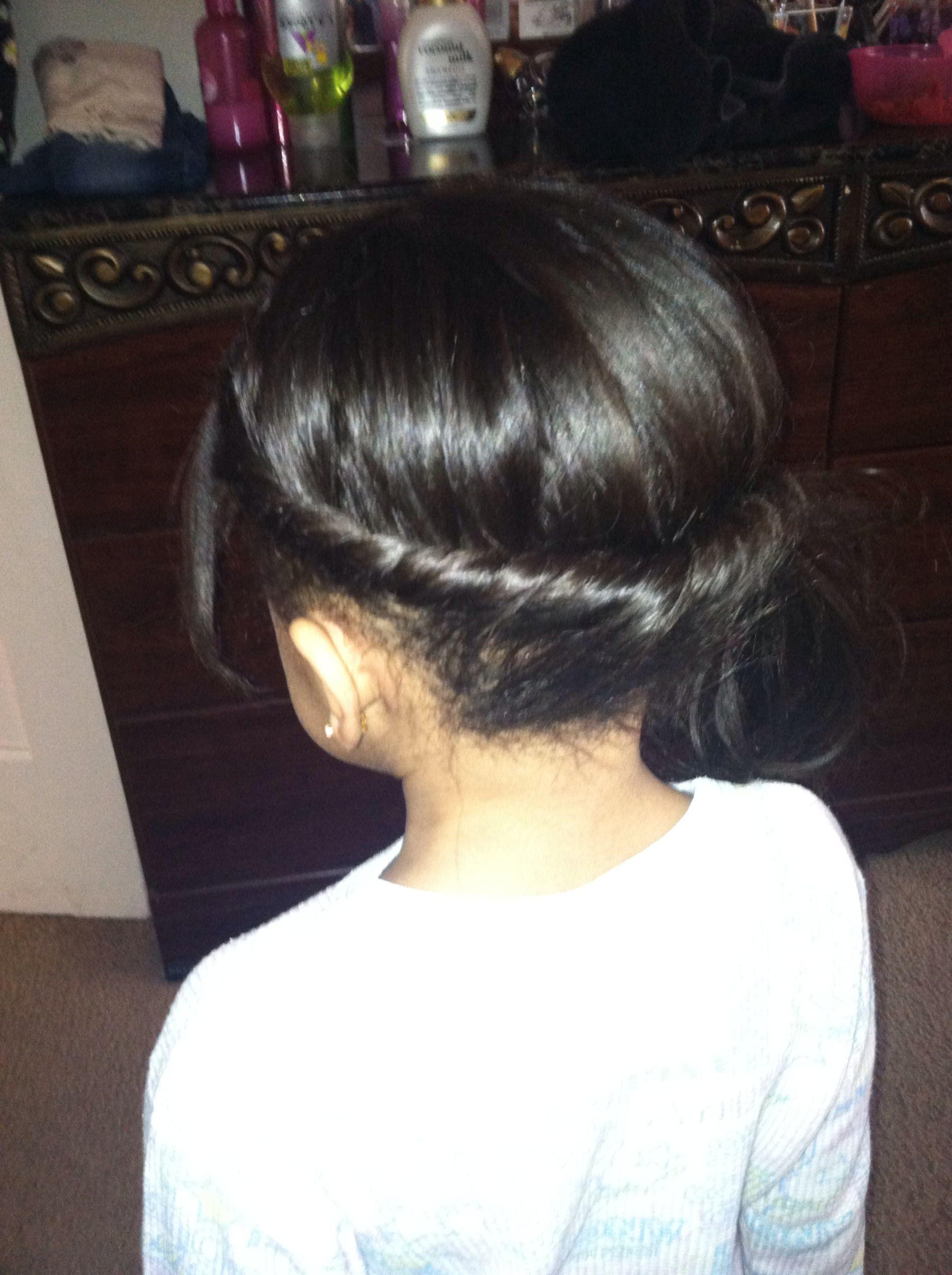 Baby hair creation.