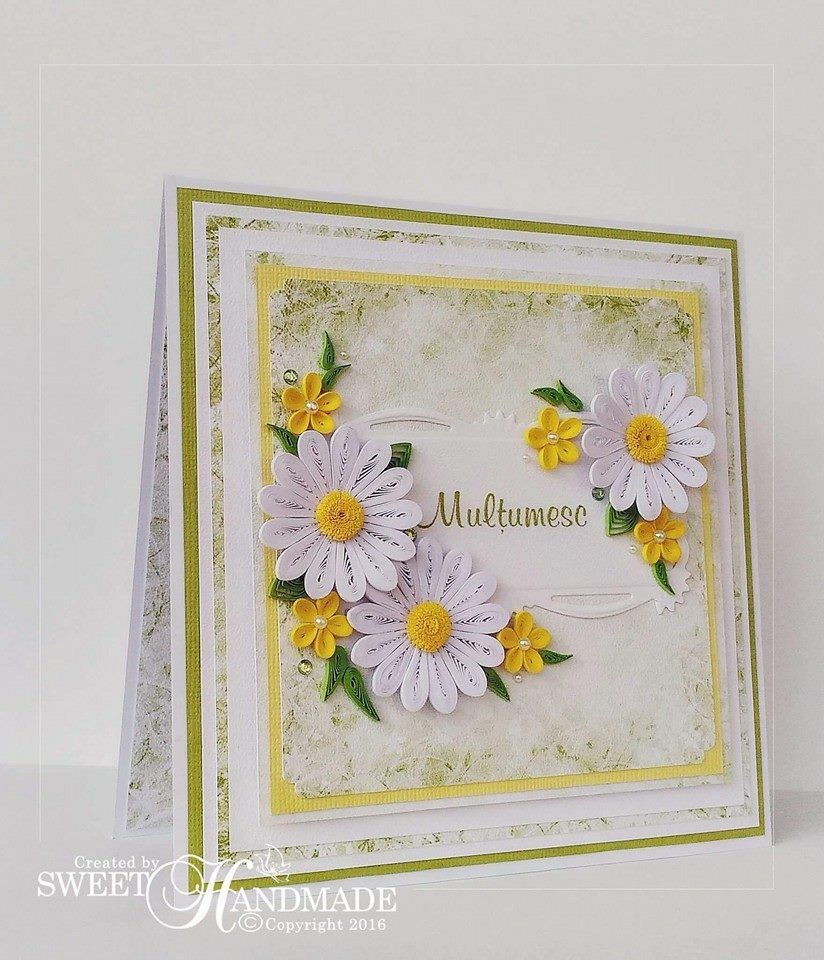 Pin by chamila thilakahewa on paper quilling pinterest quilling fresh colors for this beautiful spring quilling card the flowers and the leaves are made with paper stripes izmirmasajfo Images