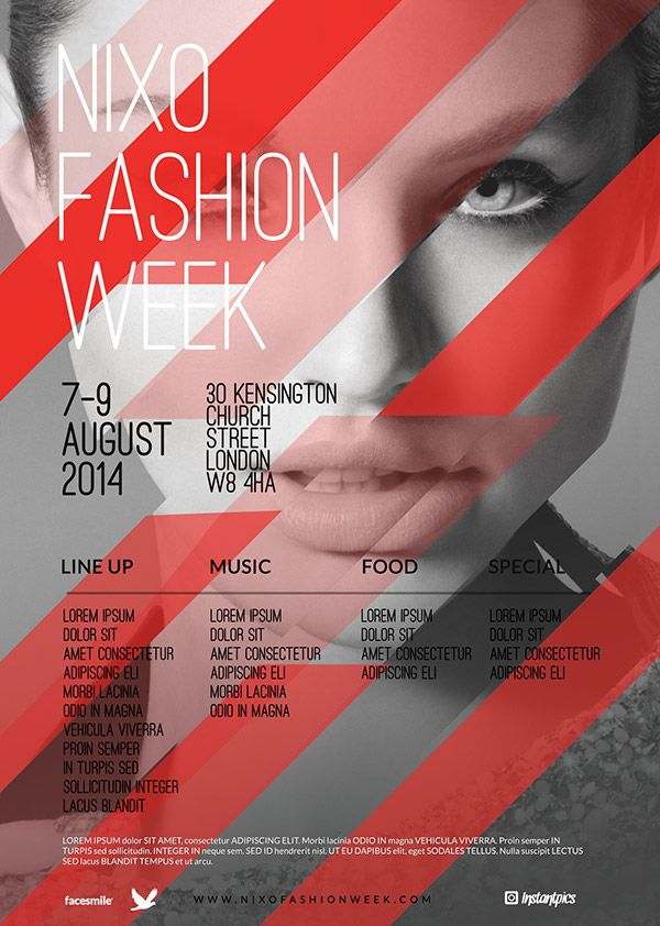Contemporary Fashion Flyer Poster A4 On Behance | Design_Posters