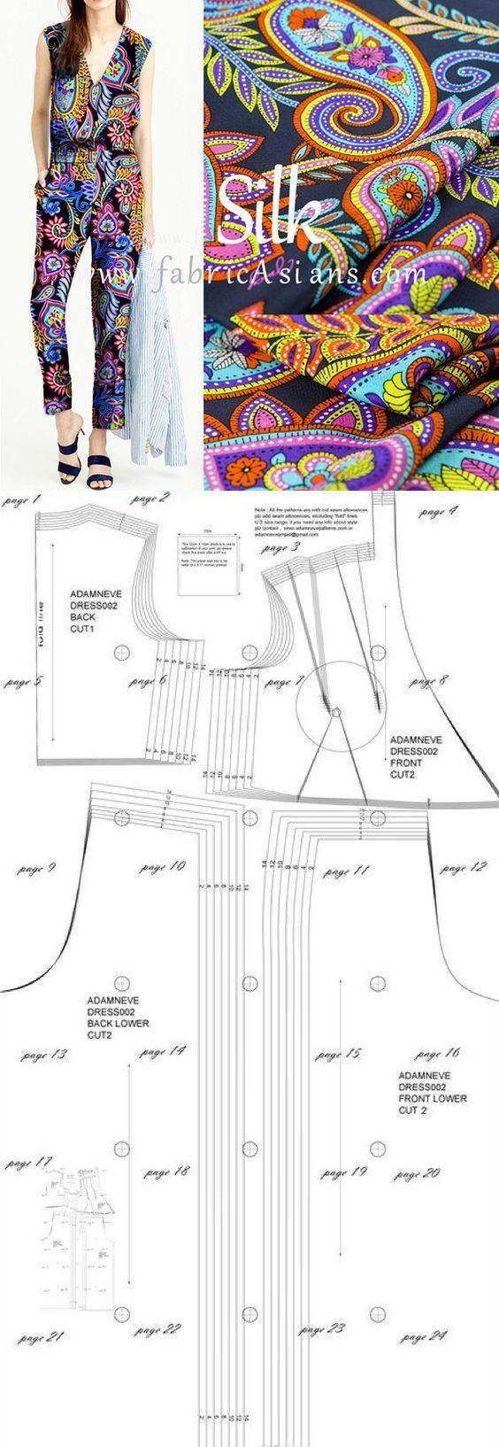 how to sew jump suit....♥ Deniz ♥ | mau quan lien ao | Pinterest ...