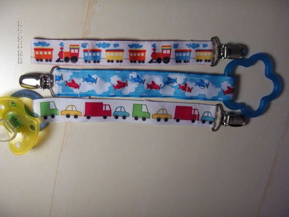 Boys Pacifier or Toy Clip Holder Set of by ...