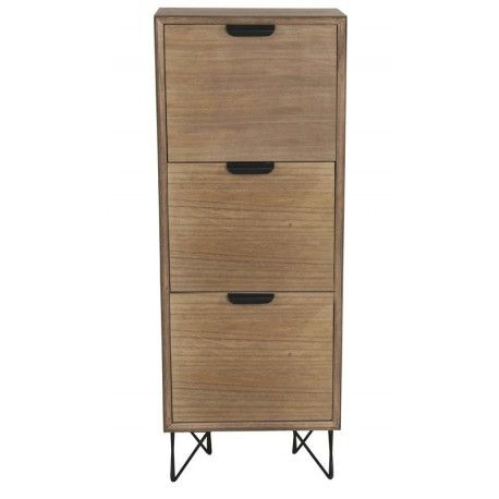 Mueble zapatero Volendam 3 cajones madera marrón