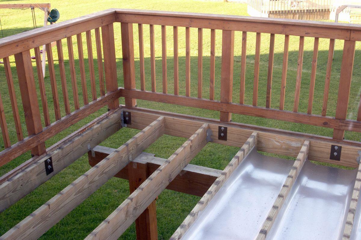Shed Under Deck Terrasse Selber Machen Terrassen Design Deck Gelander