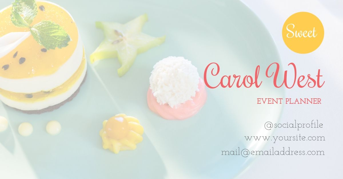 Customize this cake inspired business card using Design Wizard ...