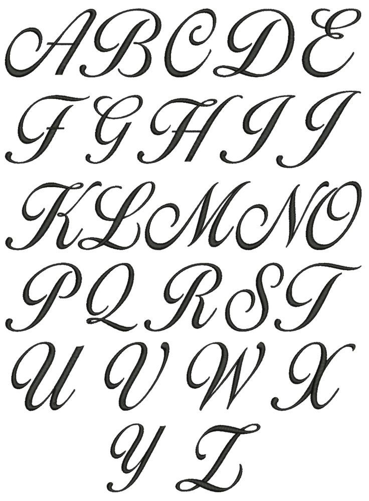 Fancy Letter Fonts Lettering Letters Tattoo Fonts Alphabet