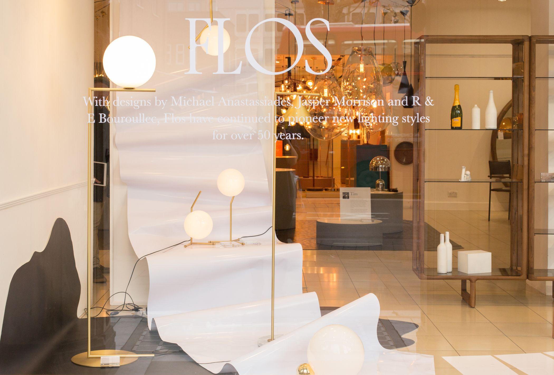 Flos Window Display At Heal S Tottenham Court Road To Celebrate Edizione Italiane Contemporary Furniture Design Space Interiors Interior Trend