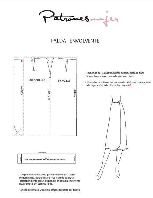 2ef1104bab1 Falda cruzada
