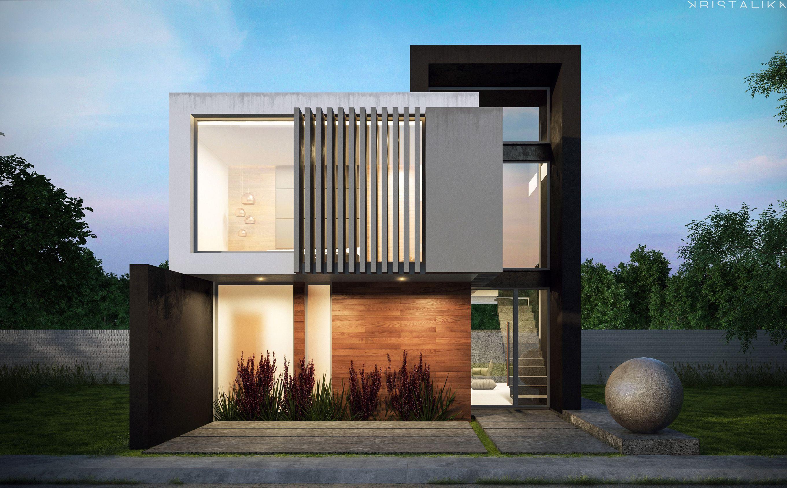 Resultado de imagem para kristalika fachadas pinterest for Arquitectura moderna casas pequenas