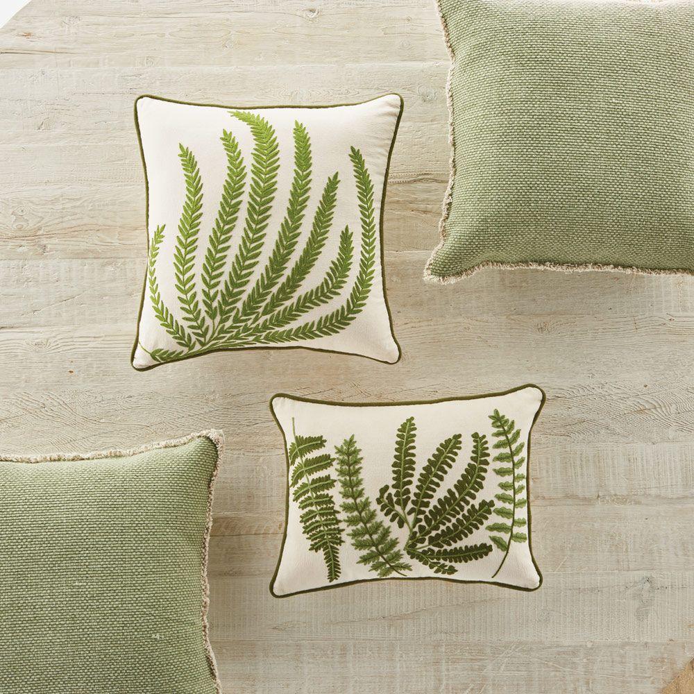 Fern & Woven Fringed Pillows Throw pillows, Pillows, Napa