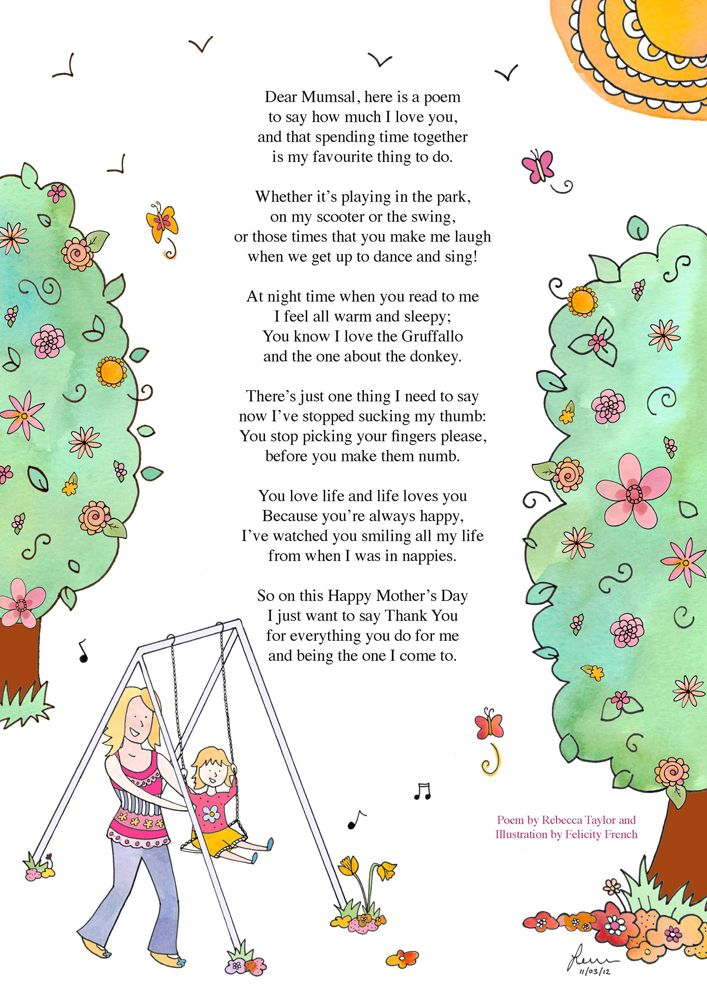 Cute Mother S Day Poem Happy Mothers Day Poem Mothers Day Poems Happy Mothers Day