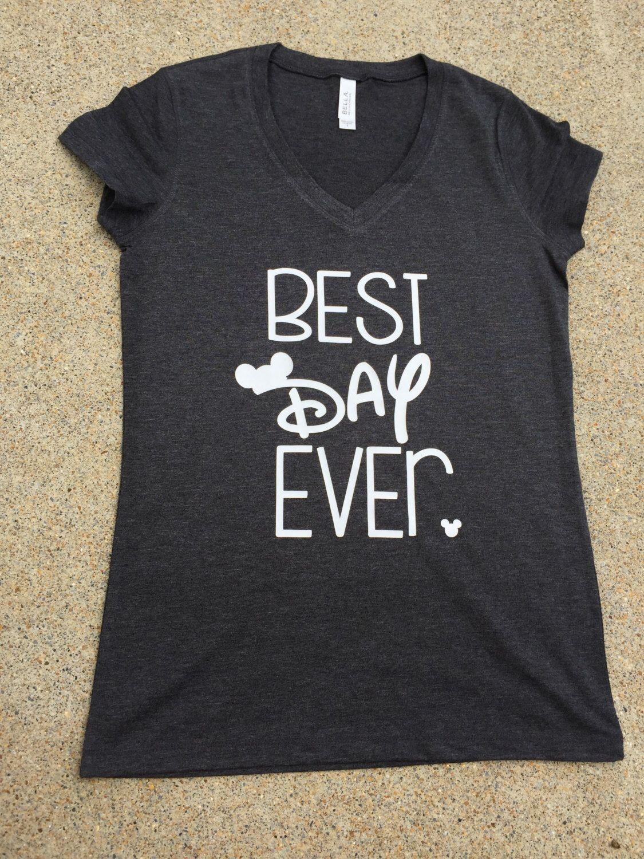 Disney Shirt Best Day Ever Cute Disney Tshirt Unisex