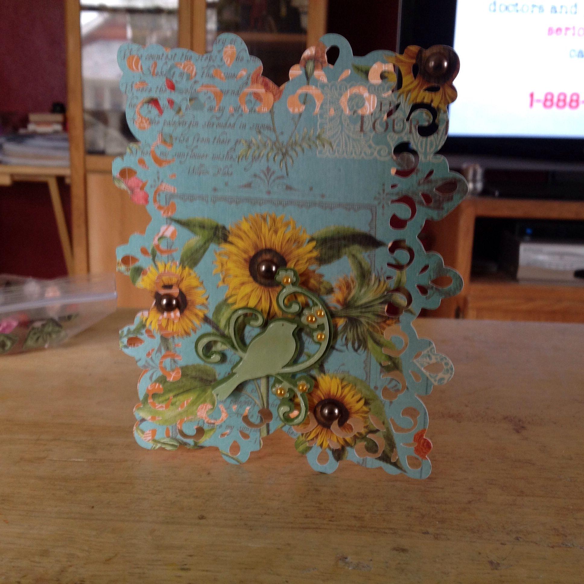 Annas cricut cartridge sunflower card sunflower cards