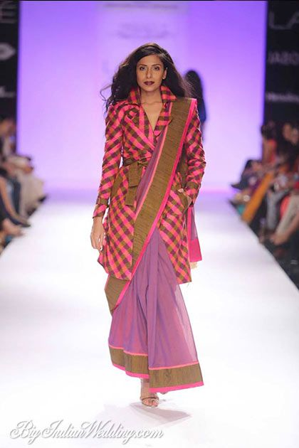 12d4332c7fd96 Shruti Sancheti saree with jacket-style blouse