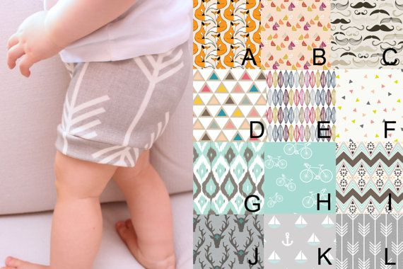 Gender Neutral Organic Baby/Toddler Shorts- Choose Your Fabric on Etsy, $26.14 AUD