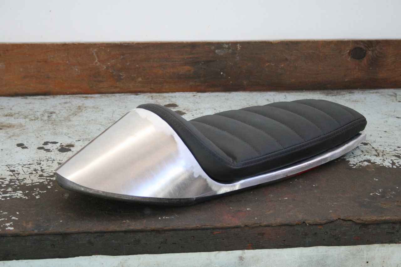 the xs650 loop cafe racer seat is done and ready to go! | cafe