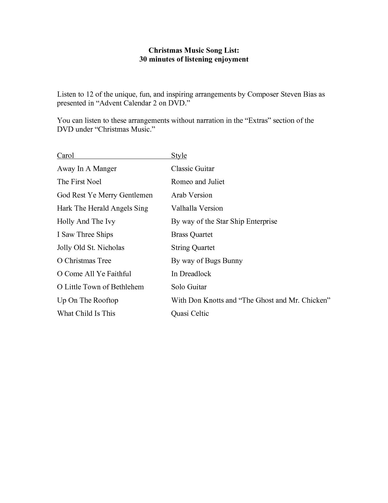 Christmas Songs List Img Need 0b4NyN7I | Christmas Songs ~ Lyrics ...