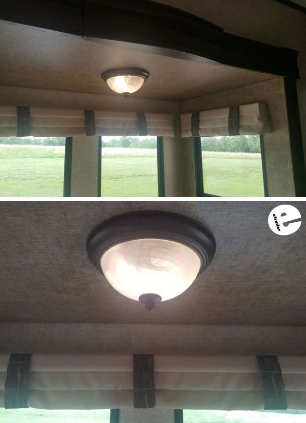 Gustafson Rv Ceiling Light W Gl Shade Copper Patina
