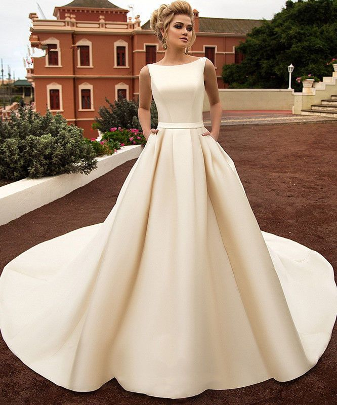 New White/Ivory/Champagne Wedding Dress Bridal Gowns Size 6-8-10-12 ...