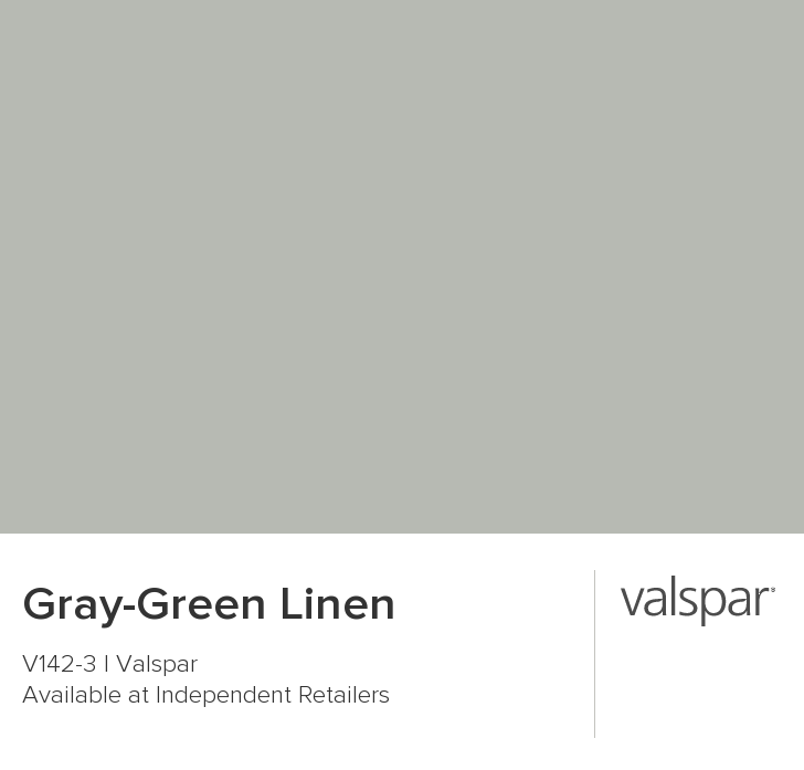 Gray Green Linen From Valspar Valspar Paint Colors Green Grey Paint Green Exterior Paints