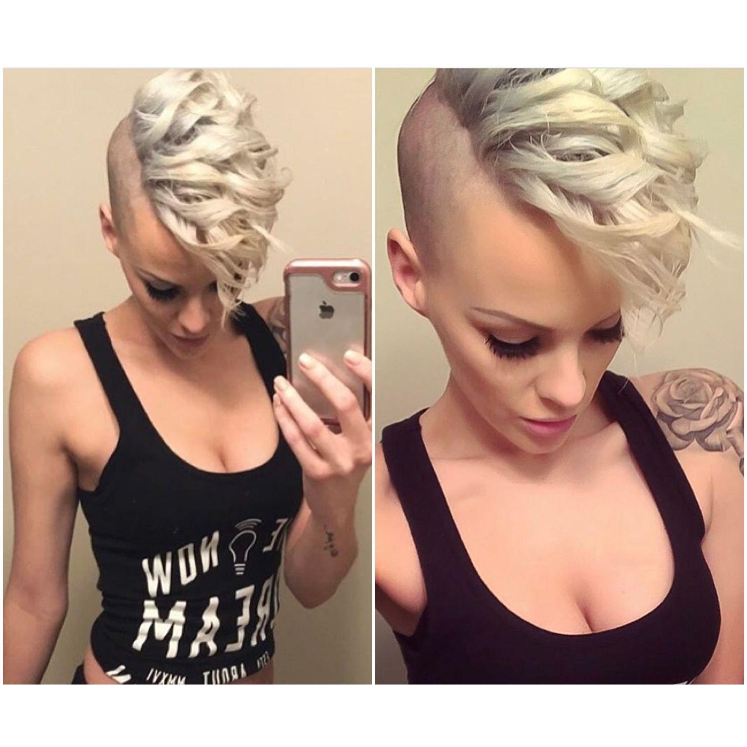 Heatheraustrie short hair pinterest undercut extreme hair and