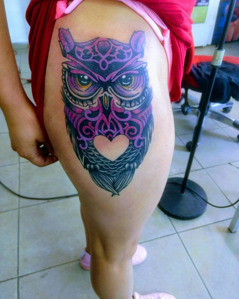 55 High Recommended Owl Tattoo Design And Ideas Blurmark Colorful Owl Tattoo Owl Thigh Tattoos Owl Tattoo Design