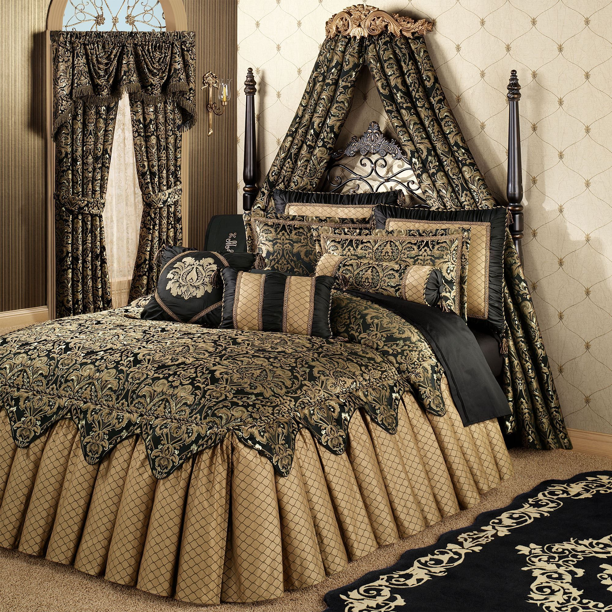Imperial Grande Bedspread Black Goldbedding Bed Linens Luxury