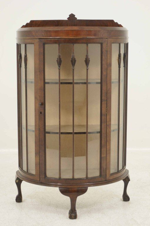Mahogany Bow Front China Display Cabinet - would love to upcycle one of  these(or - Mahogany Bow Front China Display Cabinet - Would Love To Upcycle One