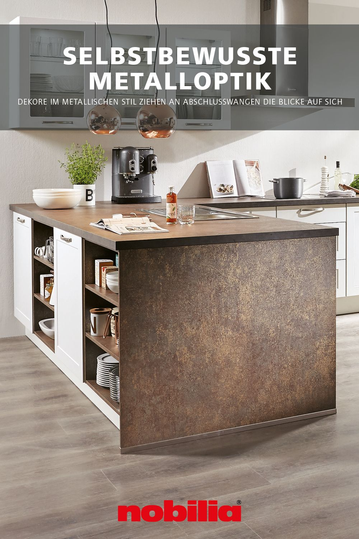 Metallischer Stil In Moderner Kuche In 2020 Moderne Kuche Color Concept Nobilia