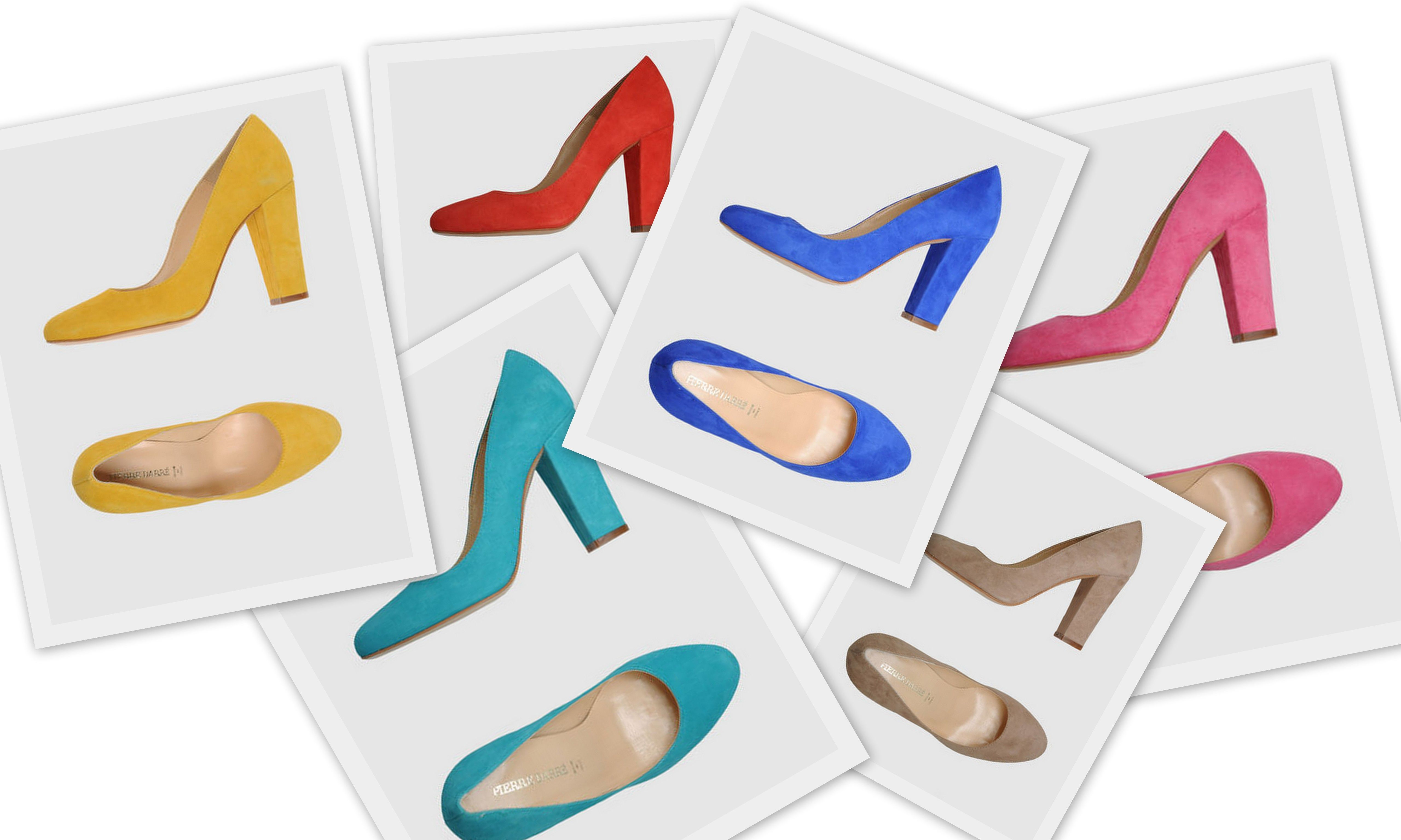 I'll take one in every color. Fabulous Pierre Darre Closed-toe Slip-on Pumps