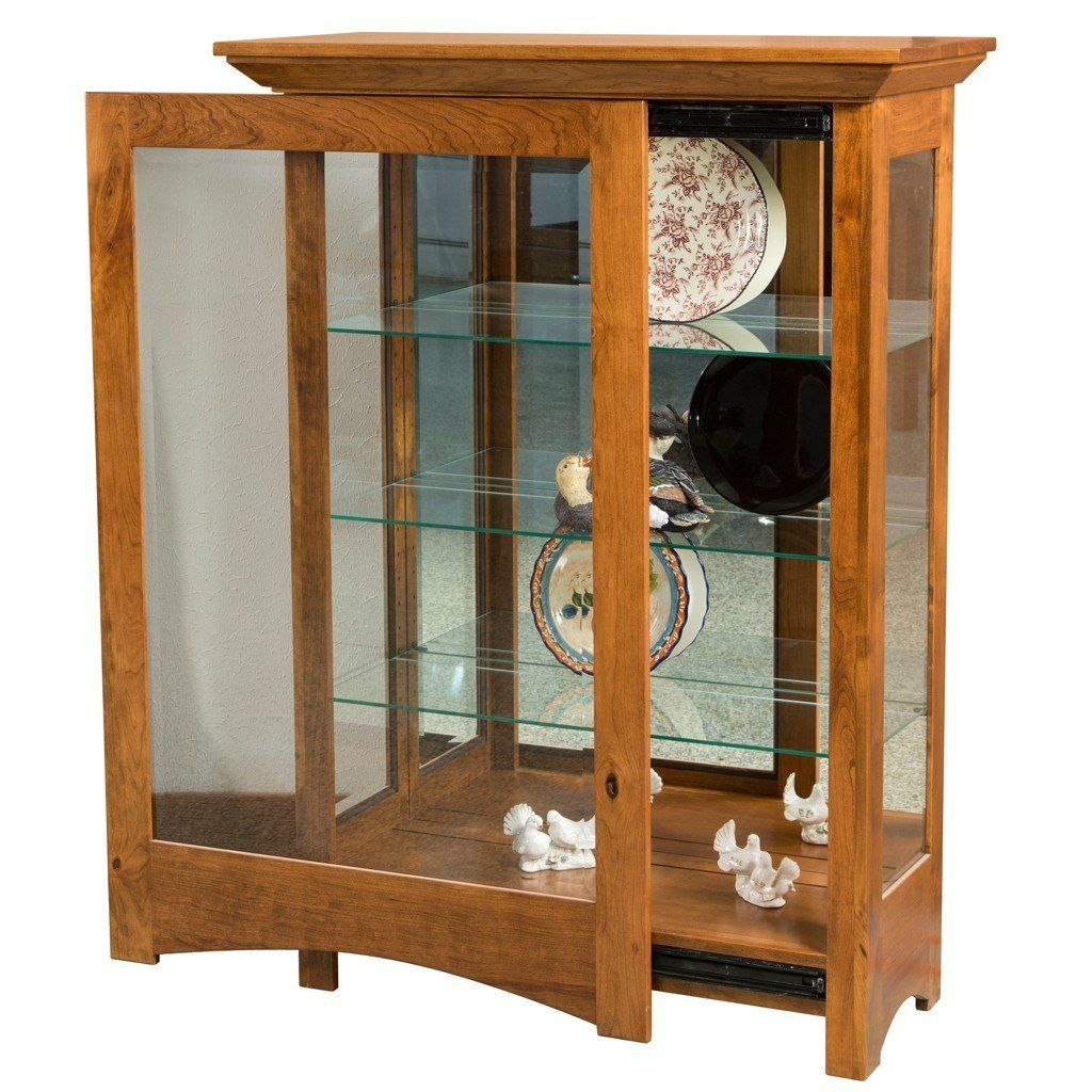 Oak Maple Cherry And Quarter Sawn White Curio Cabinets Made In The