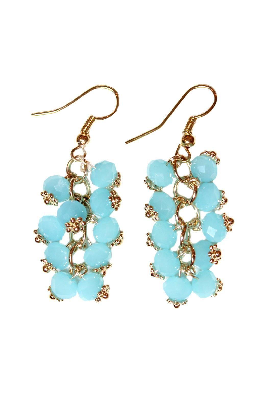 Carte Blanche Sea-Breeze Cluster Earrings | Cluster earrings, Breeze ...