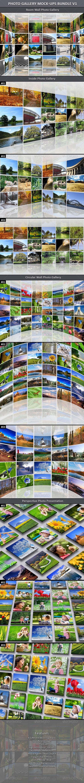 Photo Gallery Mock-Up Bundle Template PSD #design Download: http ...