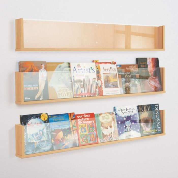 Wooden Shelf Style Wall Mounted Leaflet Holder Home