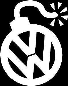 Details About Vw Volkswagen Bomb Sign Vinyl Sticker Decal Gti