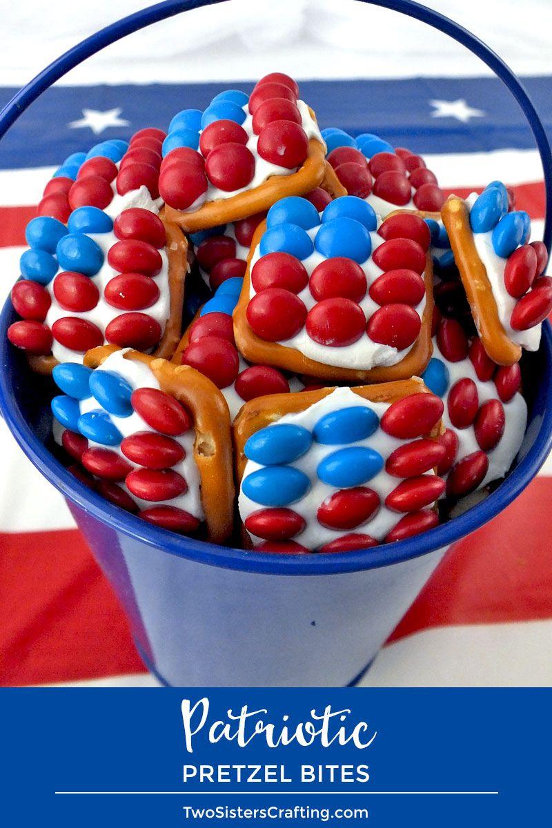 Patriotic Pretzel Bites Recipe 4th Of July Desserts Recipe