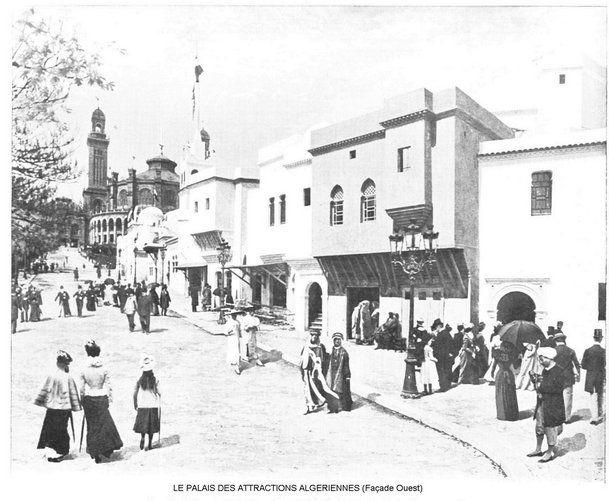 Exposition Universelle Paris 1900 - Palais de l'algérie facade ouest