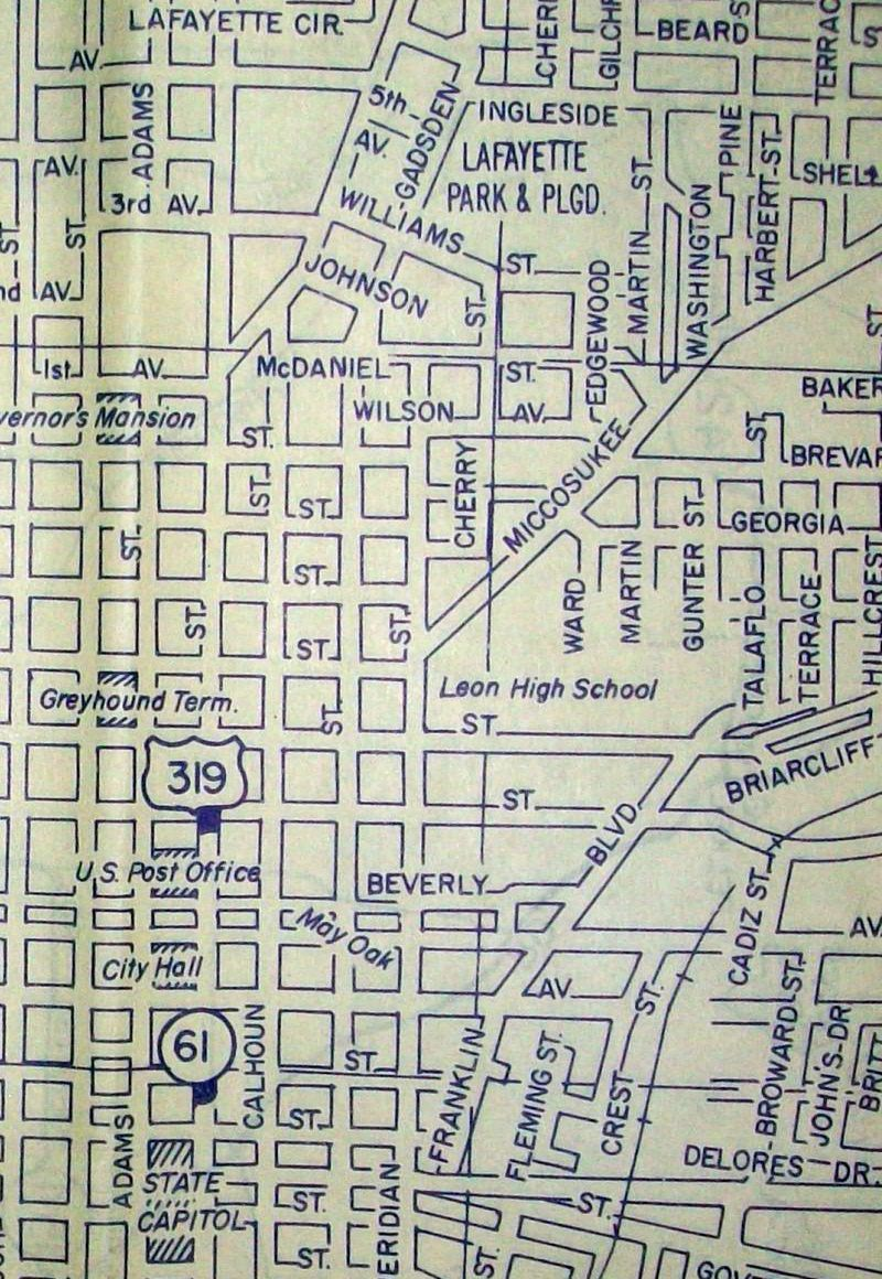 historic maps of tallahassee Old Maps American Cities In Decades