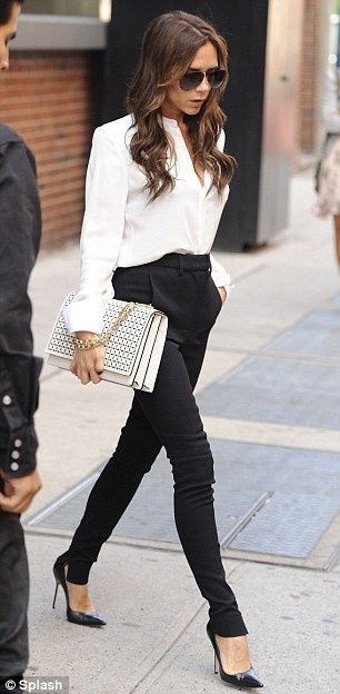 White Purse | Chic business casual, Classy business outfits, Work fashion