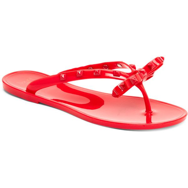 2a9257088 Dizzy Studded Jelly Flip-Flops ( 13) ❤ liked on Polyvore featuring shoes