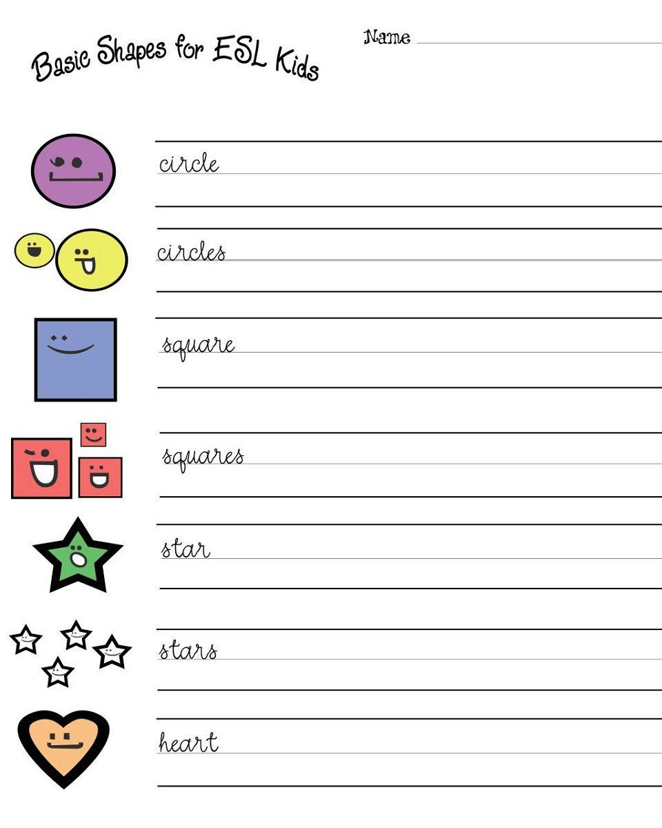 Work Sheets For Kids Basic Shape Esl K5 Worksheets Free Kindergarten Worksheets Childrens Worksheets Worksheets Free Kindergarten shapes worksheets pdf