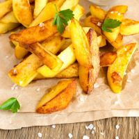 Homemade Oven Baked Fries #potatowedgesselbermachen