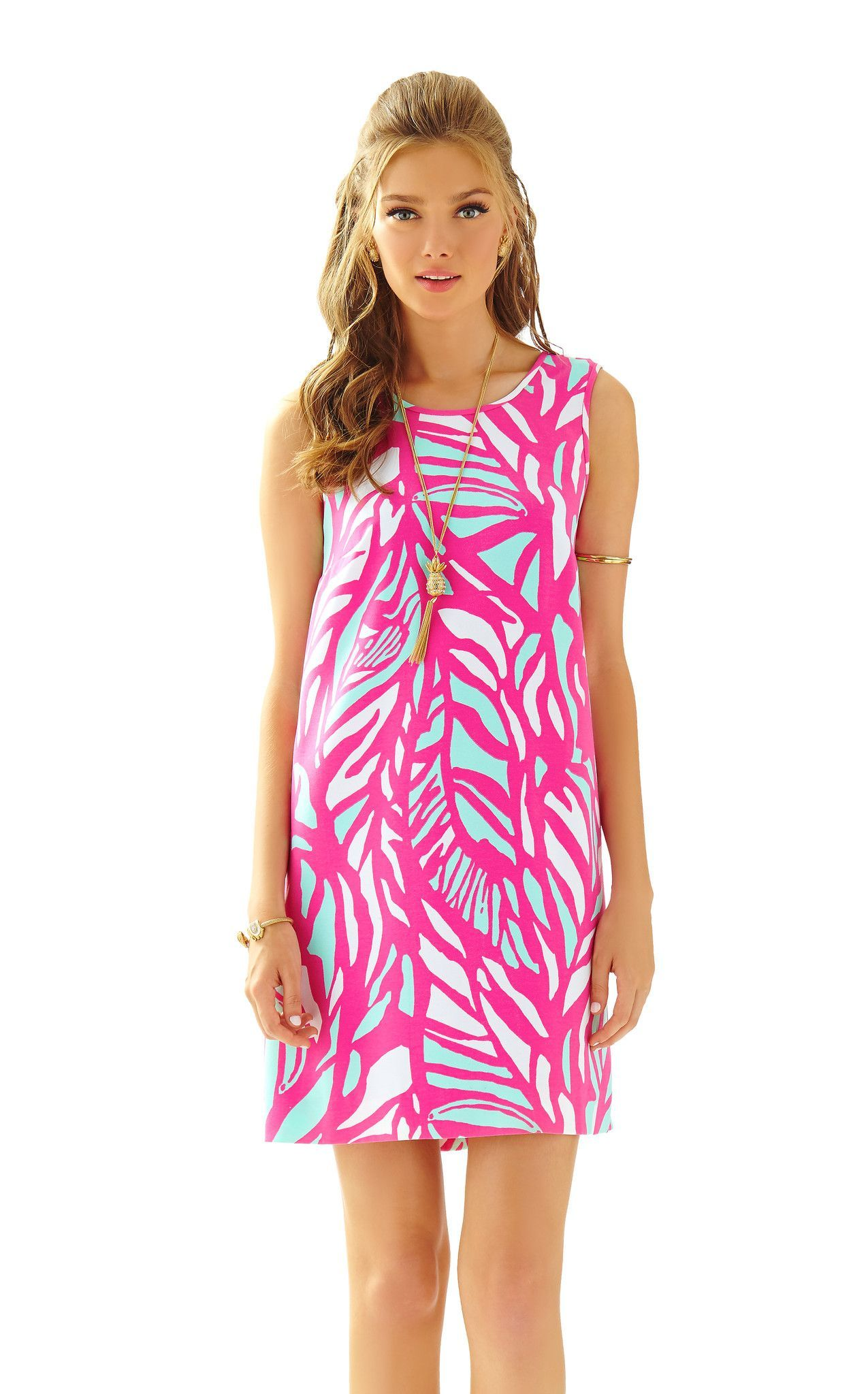 fe3cda8767b4aa Sabrina Shift in Capri Pink Papaya Playa | Lilly Pulitzer | Dresses ...