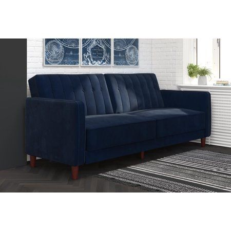 Best Dhp Pin Tufted Transitional Velvet Futon Couch Multiple 400 x 300