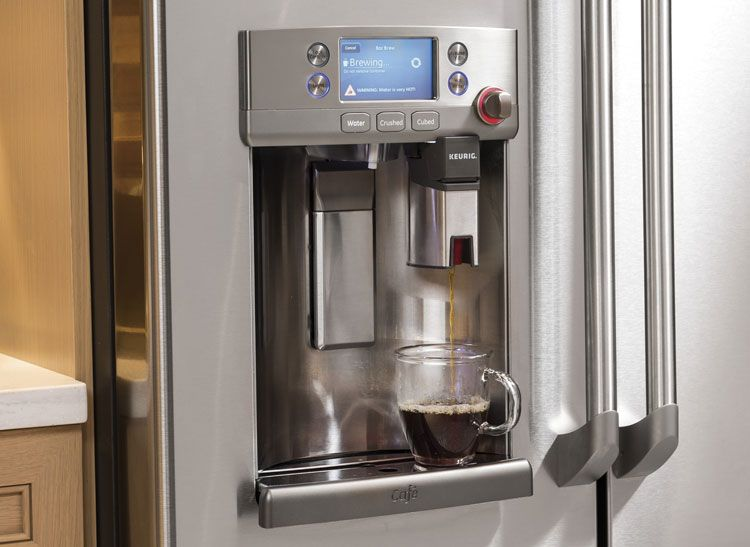 Ge Cafe Refrigerator Has A Built In Keurig Coffeemaker Products I